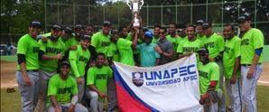 UNAPEC gana torneo de Baseball Universitario