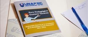UNAPEC celebra 3er. Foro Pedagógico Gustavo Tavárez