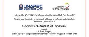 Conversatorio ¨Conociendo a la Francofonía¨