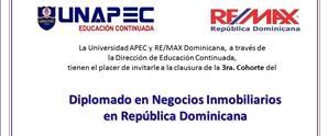 Clausura 3ra. Cohorte Diplomado NEGOCIO INMOBILIARIO EN REPÚBLICA DOMINICANA