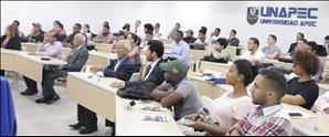 Panel de presentación de proyectos científicos de estudiantes