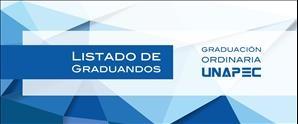 Listado de Graduandos - Graduación Ordinaria 2017