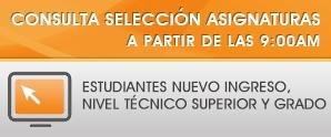Consulta Selección Asignaturas, Ene. - Abr. 2018