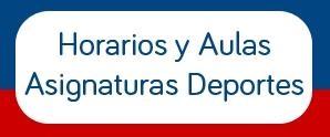 HORARIO DE ASIGNATURAS DE DEPORTE