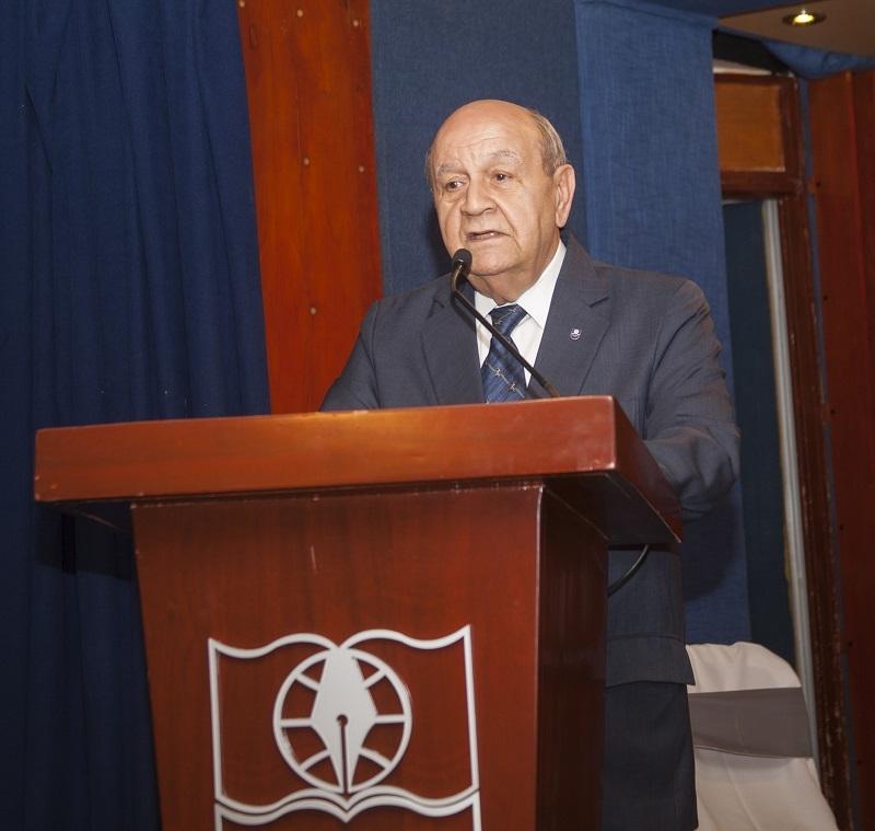 Dr. Franklyn Holguín Haché, Rector de UNAPEC, ofreció las palabras de bienvenida.