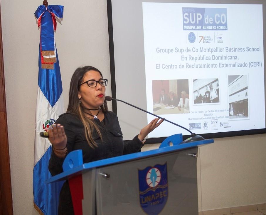 Evianny De los Santos, Responsable del Polo Educación Cámara de Comercio e Industria Franco Dominicana (CCIFD), Inc.