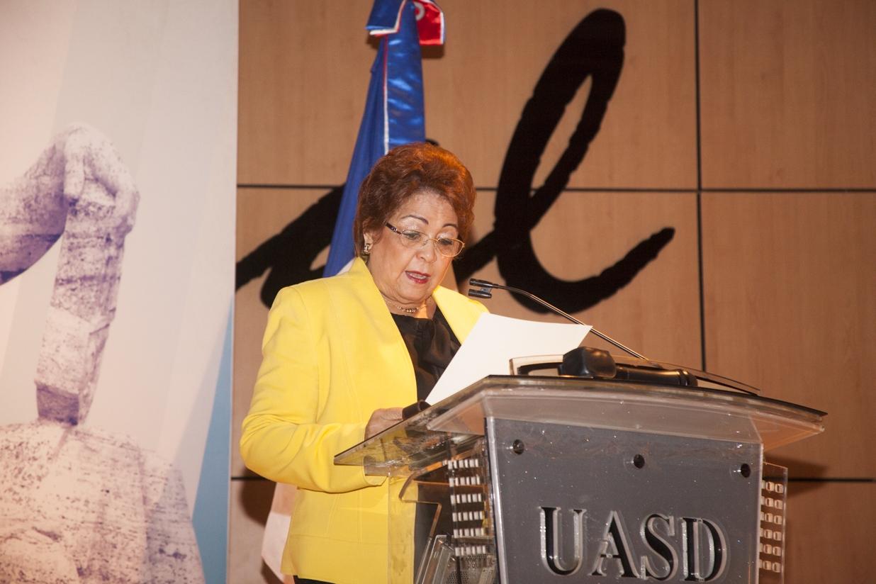 Ministra de Educación Superior, Ciencias y Tecnologías (MESCyT), Alejandrina German.