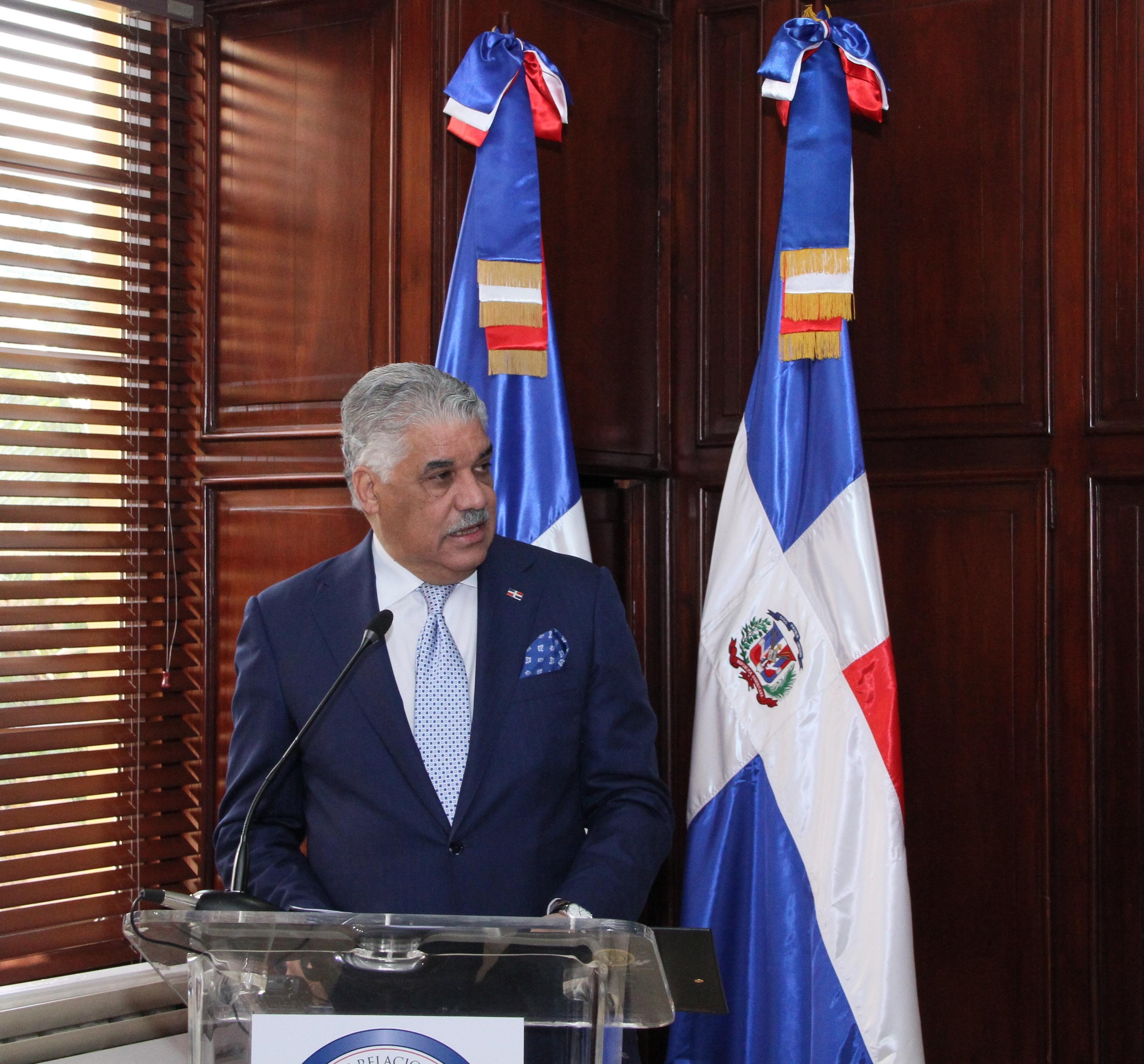 Miguel Vargas Maldonado, ministro de Relaciones Exteriores.